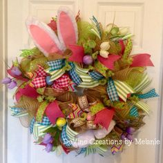 A personal favorite from my Etsy shop https://www.etsy.com/listing/268964410/easter-wreath-easter-bunny-spring-wreath