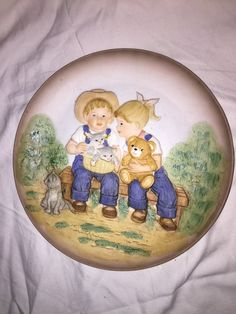 "Vintage Collectible 1985 Ceramic Plate ""Denim Days"" by Homco"