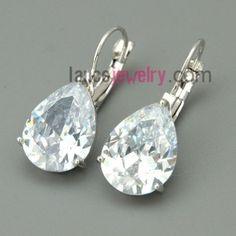 Big size zirconia pendant drop earrings