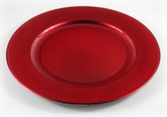 Red Charger Plates 13in (Set of 6)