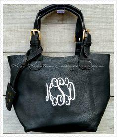 Monogram Black Crossbody Purse - 2 in 1  Monogrammed Crossbody Purse / Monogram Handbag with extra small bag by KayKreations2012 on Etsy