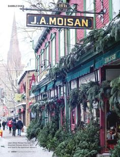 Beautiful, Old Quebec City. Canada. This is the oldest grocery/food market in North America!