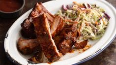 These ribs are a great main dish for when friends come over to watch the game.