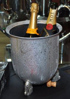 Carrol Boyes Functional Art-Champagne Cooler, some of her stuff is very bulky, but some i just love Carroll Boyes, Sculpture Art, Sculptures, South African Design, Champagne Cooler, Africa Art, Kitchen Art, Metal Art, Deco