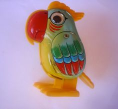 Wind up Tin plate parrot
