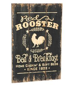 Another great find on #zulily! 'Red Rooster Bed & Breakfast' Wall Sign #zulilyfinds