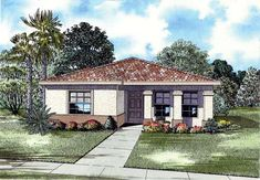 House Plan 55713 | Plan with 1663 Sq. Ft., 4 Bedrooms, 3 Bathrooms