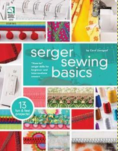 Learn Serger Sewing Basics with Giveaway from FaveCrafts!  Giveaway ends October 9, 2012