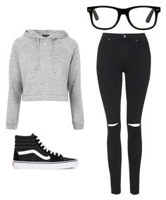"""""""Outfit Idea by Polyvore Remix"""" by polyvore-remix ❤ liked on Polyvore featuring Topshop and Vans"""