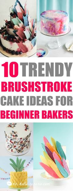 I love decorating cakes and this new brushstroke trend is so cool! These cake ideas are genius and so easy to make for beginner bakers! It so simple to decorate these cakes! Very cool technique! cake decorating tips and tricks Cake Decorating For Beginners, Creative Cake Decorating, Cake Decorating Tutorials, Creative Cakes, Decorating Cakes, Cake Decorations, Decorating Ideas, Chocolate Decorations, Tips And Tricks