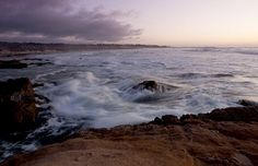 Waves breaking late afternoon at Asilomar State Beach, Calif. (© Mike Perry/Alamy)