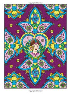 Dover Creative Haven Mehndi Designs Coloring Book (Creative Haven Coloring… Dover Coloring Pages, Spanish Gypsy, Creative Haven Coloring Books, Gypsy Girls, Art Nouveau, Color Pencil Art, Yellow Submarine, Adult Coloring, Wallpapers