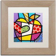 Trademark Fine Art 'Big Apple I' Canvas Art by Roberto Rafael, White Matte, Birch Frame, Size: 16 x 16, Multicolor