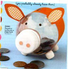 cute kids piggy bank idea