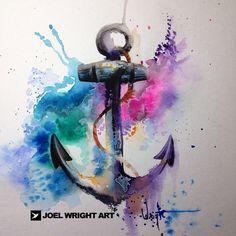 splashy watercolor