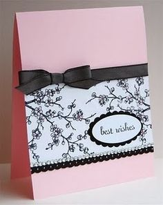 Emboss pink/black/white card