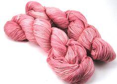 Hand Dyed Alpaca/Silk/Cashmere fingering yarn - Dusty Pink