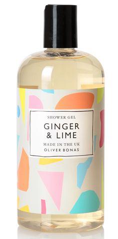 Oliver Bonas - New for Spring/Summer 2016 Ginger & Lime shower gel... artworked by me!