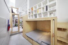 Faszinierend, was in diesem winzigen Haus in Peking alles Platz findet. Raffiniertheit mit Nachahm-Potenzial.