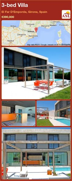 Villa for Sale in El Far D'Emporda, Gerona, Spain with 3 bedrooms - A Spanish Life Andorra, Bilbao, Toulouse, Open Space Living, Living Spaces, Girona Spain, Barcelona, Swimming Pools, Modern Design