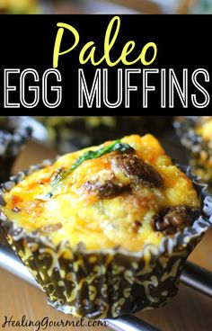 Looking for the perfect make-ahead breakfast? These Paleo Egg Muffins are quick to whip up and great for a healthy on-the-run morning meal.