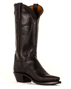 Lucchese Women's Black Burnished Ranch Hand 5 Toe Boots    http://www.countryoutfitter.com/products/29895-womens-black-burnished-ranch-hand-boots