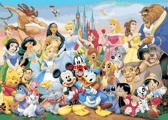 Disney Heroes. Counted Cross Stitch Pattern. Free shipping!!!