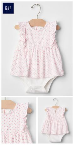Polka dot ruffle body double