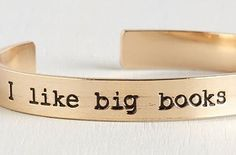 A bracelet engraved with your reading preferences. | 27 Products For People Who Are Completely Obsessed With Books
