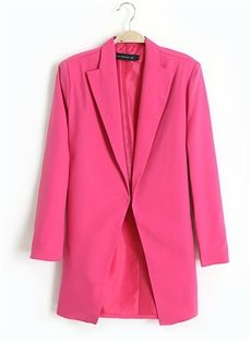 Romantic Europe Style All-matched Large Size Long Blazers