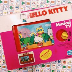 #HelloKitty #vintage TV toy - how cute!!