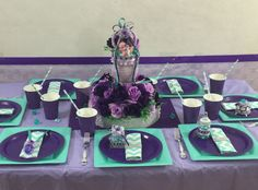 Pacifier Centerpiece - Purple Lavender and Aqua / Girls Baby Shower Tableware / Mermaid, Princess, Frozen Baby Shower Theme and Decorations