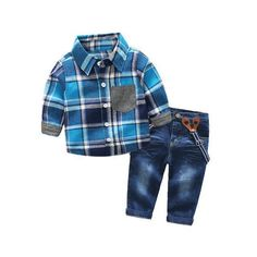 Fashion Kids Boys Clothing Sets Vest Jeans Little boy Hot 2-7T Chico guapo