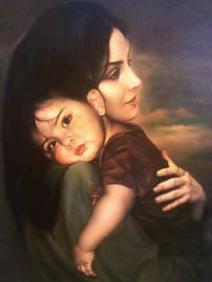 ,mother and child,; Mother And Baby Paintings, Mother And Child Drawing, Mother Daughter Art, Mother Painting, Mother Art, Woman Painting, Mother Images, Cute Couple Art, Indian Art Paintings
