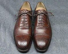 Handmade Goodyear Welted Brogue Men& Shoes,Lace-up,Water dyed leather,Leathern Lining ,sole in rubber/leather Oxford Shoes Outfit, Men's Shoes, Shoes Men, Leather Fashion, Mens Fashion, Timex Watches, Goodyear Welt, Casual Chic Style, Dream Shoes
