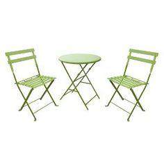 3-Piece Folding Metal Patio Bistro Furniture Set... : Target Mobile