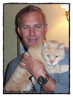Kevin Costner with furry friend.