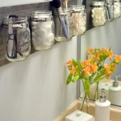How to Create a Mason Jar Organizer. Tricky.