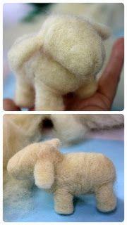 Felt Sheep, Step by Step, Easy Crafts Needle Felted Animals, Felt Animals, Sheep Crafts, Needle Felting Tutorials, Candy Crafts, Yarn Projects, Easy Diy Crafts, Felt Dolls, Soft Sculpture