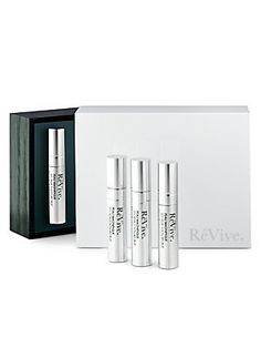 "ReVive Peau Magnifique Les Yeux Youth Recruit by ReVive. $750.00. Now, the power of RéVive Peau Magnifique is available for the eyes. This targeted treatment helps repair the delicate skin around the eyes and slows visible signs of aging with potent ""youth-recruiting"" ingredients that provide dramatic visible results in 4 weeks. Created by a noted Plastic Surgeon, this formula merges bio-technology with beauty, resulting in a noticeable decrease in the look of lines, wri..."