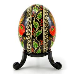 Poppy Sisters - Real Handmade Traditional Ukrainian Chicken Egg  side view