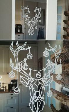 Christmas Feeling, Christmas Home, Christmas Crafts, Christmas Window Decorations, Christmas Doodles, Deco Originale, Winter Fun, Merry Xmas, Home Crafts