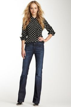 7 For All Mankind Mid Rise Bootcut Jean