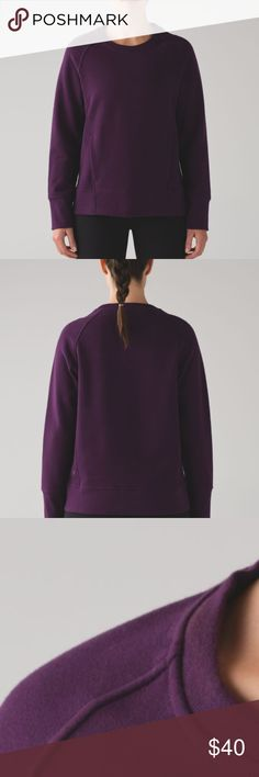 lululemon back to it crew Naturally breathable Cotton Fleece fabric feels thick, soft and comfortable long after you've cooled down soft and comfortable naturally breathable heat retention lululemon athletica Tops