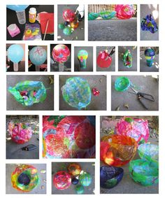 Tissue Paper Balloon Bowls - Doing this with 1st grade in Feb.
