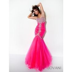 Pink Mermaid Prom Dress w/ Sparkles, WANT:)