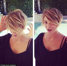 Peter Pan inspiration: Kaley Cuoco debuted her new pixie cut on Saturday...