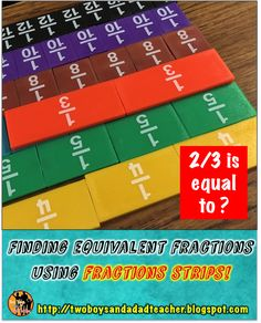 how I taught equivalent fractions 4th Grade Fractions, Teaching Fractions, 5th Grade Math, Teaching Math, Sixth Grade, Creative Teaching, Multiplication, Fourth Grade, Third Grade