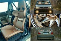 Volkswagen Golf Mk2 GTI with Recaro interior and Jetta front end swap