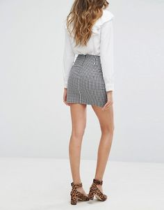 8e23d9f3b013 Miss Selfridge Gingham Mini Skirt